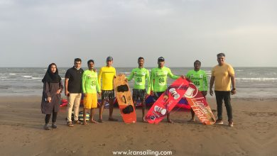 تصویر از نمایندگان جامعه سیلینگ خلیج فارس مسیر دریایی جزیره هرمز به بندرعباس را طی کردند
