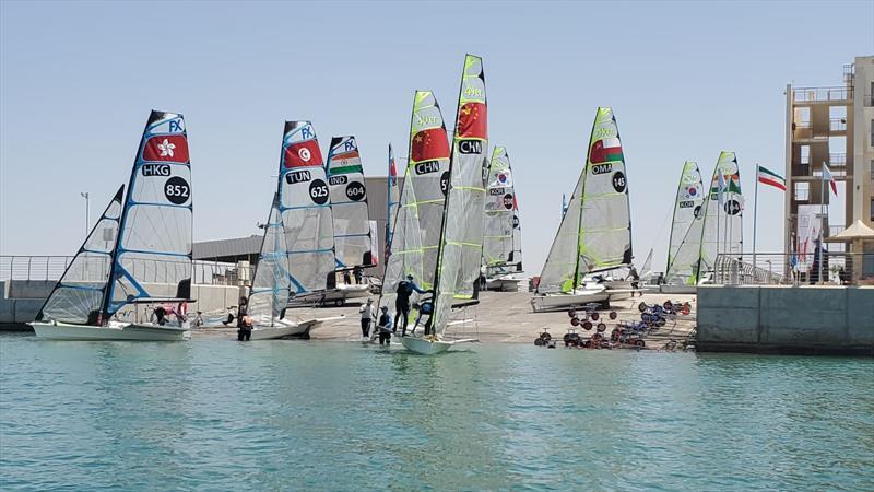 yysw311436 - حفظ جایگاه انتهای جدولی ایران در روز دوم مسابقات سیلینگ کسب سهمیه المپیک 2020 توکیو